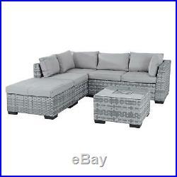 Garden Sofa Set Azuma Cannes Aluminium Rattan Corner Furniture Set / Ice Table