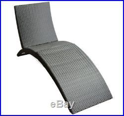Garden Sun Lounger Rattan Furniture Patio Pool Recliner Chaise Chair New