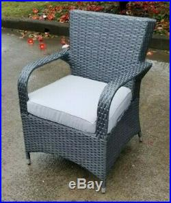 Grey Rattan Garden Furniture Patio Dining Set Seats 6 Outdoor Conservatory Sofa