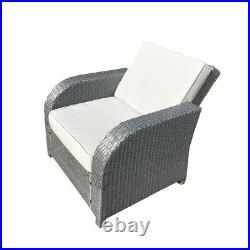 Grey Rattan Garden Furniture Patio Sofa Chair Set Conservatory Alfresco Outdoor