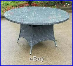 Grey Rattan Patio Garden Furniture Dining Set