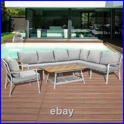 Harrier Black/White Garden Sofa Sets 4/7 Seater CLEARANCE PRICE Grade B