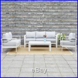 Harrier Outdoor Sofa & Table Furniture Set 2 Colours LUXURY GARDEN LOUNGE