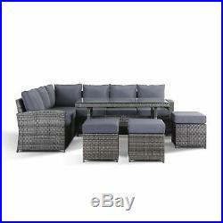 Strange Jasmina Grey Garden Furniture Rattan Corner Sofa With Dining Alphanode Cool Chair Designs And Ideas Alphanodeonline