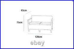 Keter Rattan Garden Furniture Dining Sofa Set Allibert Orlando With Lyon Table