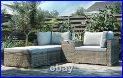 King Rattan Garden Furniture Lounge Set, Grey Cushion RRP £799.00
