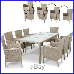 Large Dining Table Set Garden Patio Furniture Rattan 8 Seater Chairs & Cushions