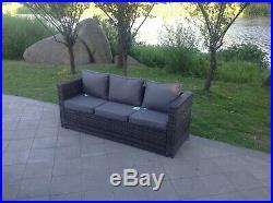 Left arm 9 seater rattan corner sofa set dining table outdoor garden furniture