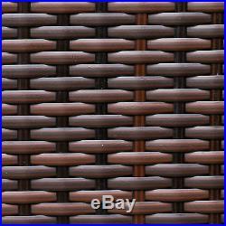 Light Brown Rattan Wicker Weave Garden Furniture Conservatory Sofa Set + COVER