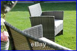 Living Room Garden Polyrattan Set Sofa Armchairs in Rattan Furniture Outer