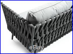 Lusso Charcoal Grey Outdoor Lounge Daybed Garden Furniture Set