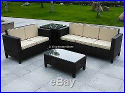 Luxury Rattan Sofa Dining Set Garden Furniture Patio Conservatory Wicker Outdoor