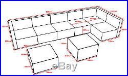 Luxury Rattan Sofa Garden Furniture Patio 7 Seater Modular Rattan Sofa Set