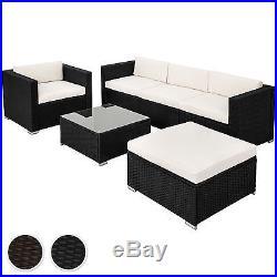 Luxury steel rattan garden furniture sofa set wicker outdoor black brown