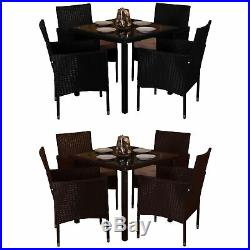 Malpas Garden Rattan Furniture 4 Seater Dining Set Outdoor Table Patio UKFR