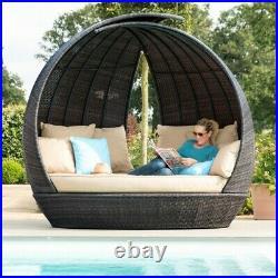 Maze Rattan Garden Furniture Brown Lotus Daybed