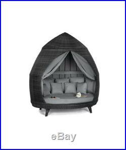 Maze Rattan Garden Furniture Casbah Daybed, Grey daybed, Garden sunshade