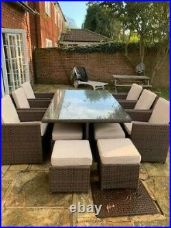 Moda 13 piece cube garden furniture Set in excellent condition used