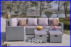 Stupendous New Conservatory Modular 8 Seater Rattan Corner Sofa Set Machost Co Dining Chair Design Ideas Machostcouk