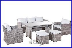 New Rattan Garden Furniture- 6 Piece Family Set Am715