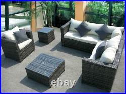 New Rattan Garden Wicker Outdoor Conservatory Corner Sofa Furniture Set