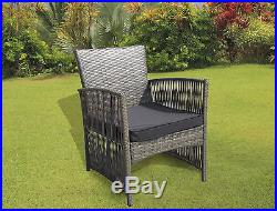 New Rattan Garden Wicker Outdoor Conservatory Furniture Table And Chairs Set