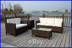 New Rattan Wicker Conservatory Outdoor Garden Furniture Set