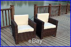 New Single Chairs Rattan Wicker Conservatory Outdoor Garden Furniture Set
