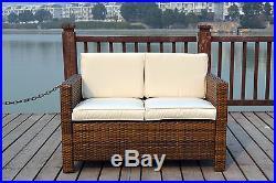New Twin Rattan Wicker Conservatory Outdoor Garden Furniture Set