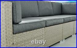 Orlando Brown Grey Rattan Modular Outdoor Furniture Garden Sofa Set