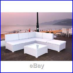 Outdoor Garden Rattan Corner Sofa With Cushion Coffee Table Sofa Furniture Set