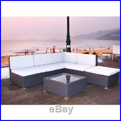 Outdoor Garden Rattan Corner Sofa With Cushion Coffee Table Sofa Furniture Sets