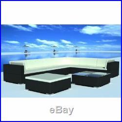 Outdoor Lounge Set 24 Pieces Poly Rattan Garden Patio Sofa Table Seat Furniture