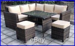 Outdoor Rattan Corner Dining Garden Furniture Rattan Patio Set Rattan Weave