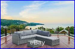 Outdoor Rattan Corner Sofa Set Garden Furniture Savcan Patio With Footstool