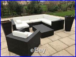 Outdoor rattan garden furniture set