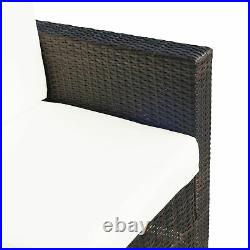 Outsunny 2 Seater Rattan Sofa Outdoor Garden Wicker Weave Furniture 2-Seater
