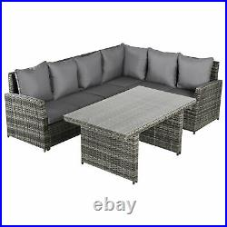 Outsunny 3 PCS Outdoor All Weather Rattan Dining Sets Furniture Backyard Garden