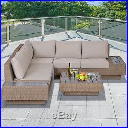 Miraculous Outsunny 4Pc Sectional Rattan Sofa Set Garden Furniture Creativecarmelina Interior Chair Design Creativecarmelinacom