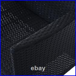 Outsunny Rattan Chair Garden Furniture Patio Companion Love Seat Table Black New