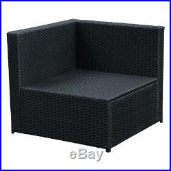 PE Rattan Corner Sofa Garden Lounge Outdoor Furniture Patio Table Wicker Set 5PC