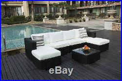 Papaver 6 Seater Rattan Corner Sofa Set Garden Furniture Patio Conservatory NEW