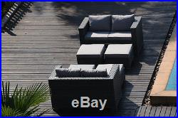 Papaver 8 Seater Cube Dining Set Rattan Garden Furniture Grey with Rain Cover