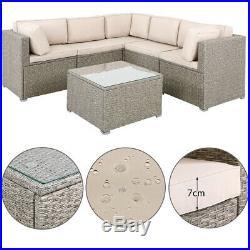 Poly Rattan Corner Set Garden Furniture Sofa Patio XXL Wicker Grey Beige Outdoor