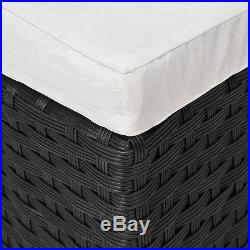 Poly Rattan Day Bed Garden Furniture Outdoor Patio Lounge Sofa Sun Roof