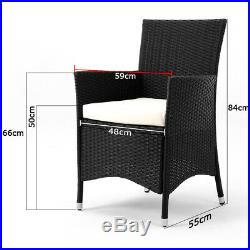 Poly Rattan Garden Dining Glass Table and 8 Chairs Furniture Set Outdoor Patio