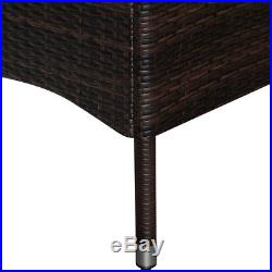 Poly Rattan Garden Furniture Dining Table Chairs Set Outdoor Patio Conservatory