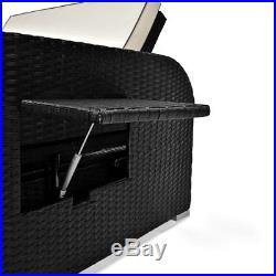 Poly Rattan Garden Furniture Patio Sofa Storage Bench Recliner Sun Bed Lounger