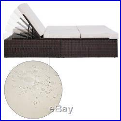 Poly Rattan Garden Sun Lounger Outdoor Recliner Wicker Sofa Day Bed Furniture