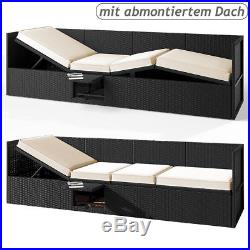 Poly Rattan Sun Lounger Sofa Day Bed Recliner Outdoor Patio Garden Furniture